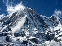 Trekking in Himalayas. Annapurna Base Camp trek